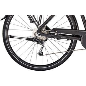 Vélo de trekking électrique Ortler Bozen - Pour femmes - Cadre trapèze - Noir mat